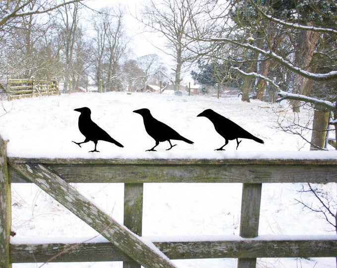 Crow Garden Ornaments, Raven Bird Yard Art - Garden Sculpture