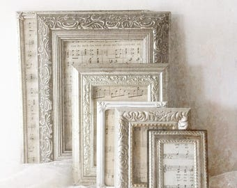 Ornate Wedding Frames.  Victorian Gothic Style Frames. Antique Silver Frames. Wedding table frames. set of 6 tabletop frames