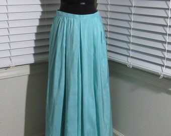 MILESTONE SALE 40% OFF with Coupon, 1960s Long Teal Skirt, 4, 6, 8