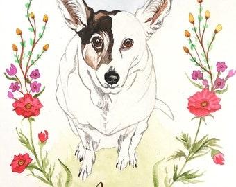 Watercolor Pet Portrait - Custom Watercolor Pet Portrait - Custom Dog Portrait - Custom Cat Portrait - Watercolor Pet Painting -  Pet Gifts