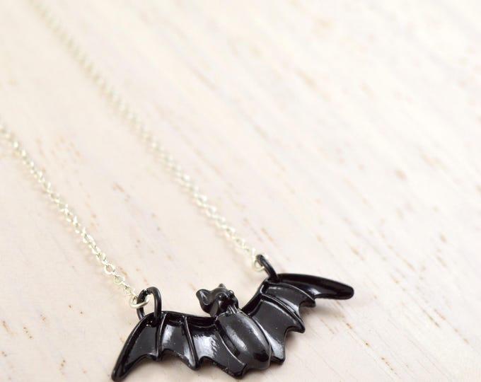 Black Bat Necklace