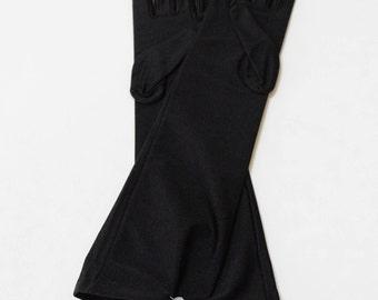 "Black Matte Satin Elbo 15"" Gloves"