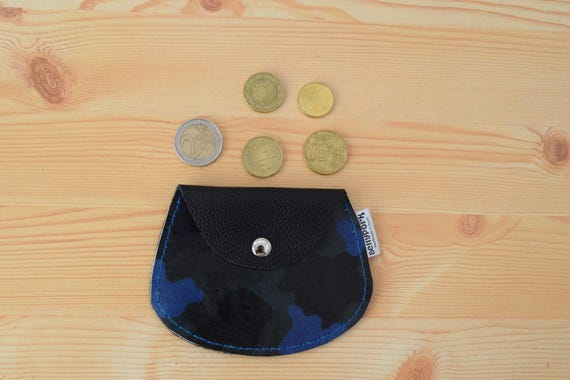 Leather coin purse,leather change purse,change purse leather,camo leather,camo coin purse,blue coin purse,mens coin purse,minimalist purse