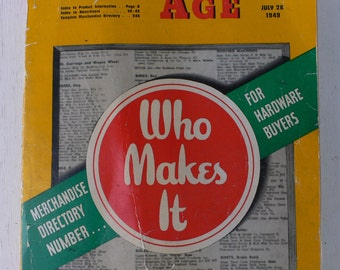 vintage catalog, Hardware Age, 1949, merchandise for hardware store buyers,from Diz Has Neat Stuff