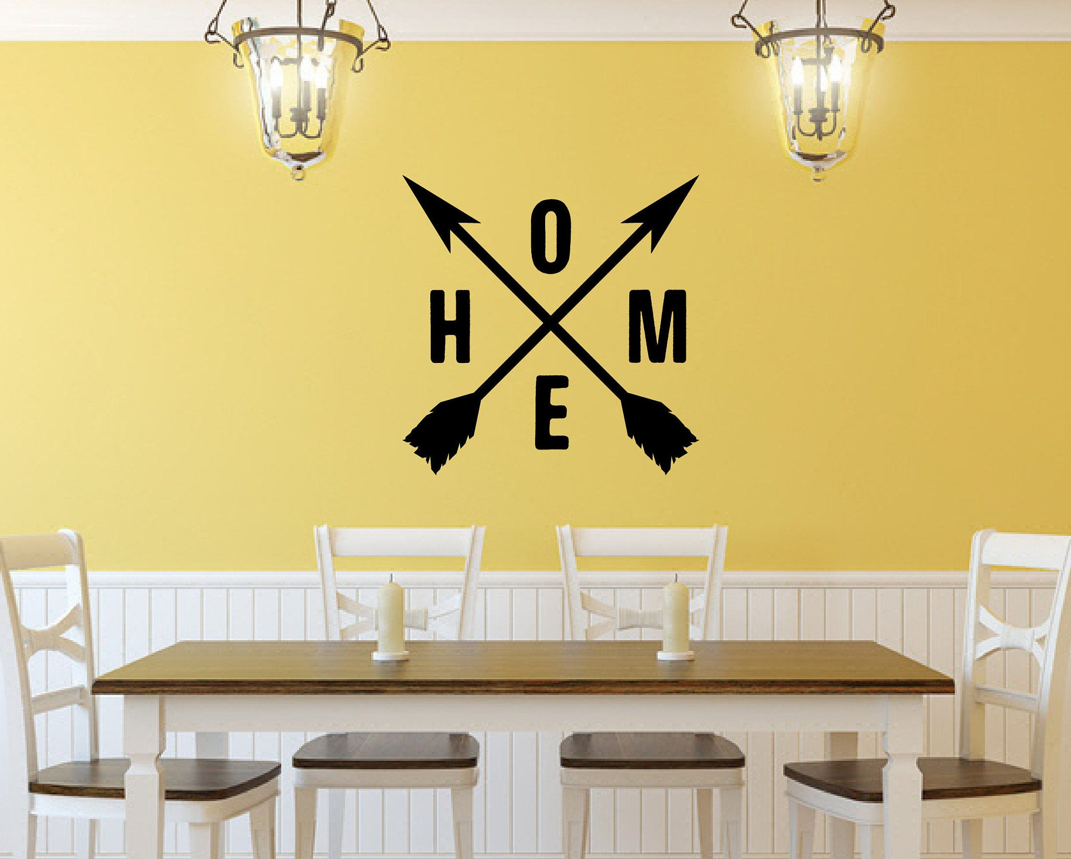 Home Crossed Arrows | Vinyl Wall Decal | Home Lettering | Crossed ...