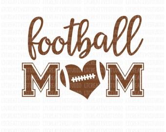 Football Mom SVG, Football Mom, Sport Mom SVG, Football Cricut Cut File, Svg Cutting Files, Cricut Files, Silhouette Files