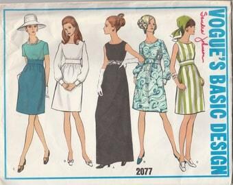 Versatile High Waisted Dress Pattern Vogue 2077 Size 10