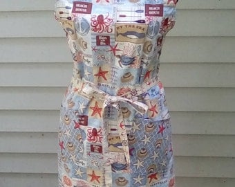 Day at the Beach Nautical Apron