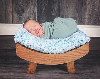 White Baby Blanket Aqua Blue Baby Blanket Aqua Baby Blanket Baby Shower Gift New Baby Gift Baby Girl Blanket Baby Boy Blanket Photo Prop