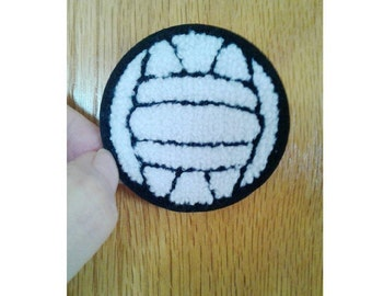 Volleyball - Sports - PE - Gym - Coach - Embroidered Chenille Iron On Patch - B