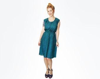 Green dress for women, Blue dress, Summer dress, Silk dress, Sleeveless dress, party dress, midi dress, Cocktail dress, Unique dress, belt
