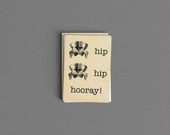 Hip Hip Hooray Congratulations Card or Print