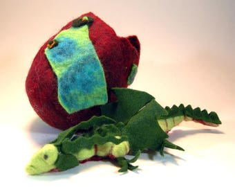 Dragon egg/ dragon hatchling egg/baby dragon/red dragon egg/green dragon/wool dragon egg/dragon nest/ red wool dragon egg/dragon sculpture