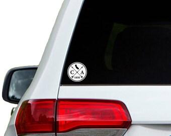 California Arrow Year Car Window Decal Sticker