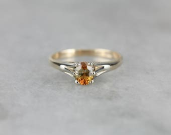Bi Color Montana Sapphire Solitaire Ring, Sapphire Engagement Ring, Sapphire Ring VNR6UC-R