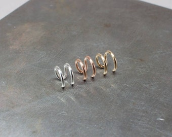 Silver Ear Cuff/ Sterling Silver, 14k Gold or Rose Gold Filled No piercing Ear Cuff/ Cartilage Earring/ Handmade Earring
