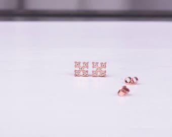 Cross Studs / Gold Studs / Gold Earrings