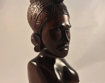 Handcrafted Carved Wooden African Tribal Statue
