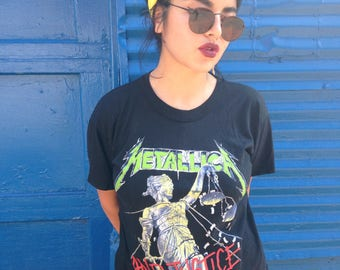Vintage Metallica And Justice For All 88-89 tour shirt