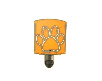 Paw Rusty Metal Night Light