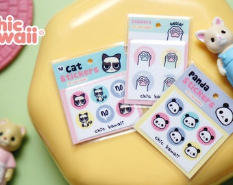 Chic Kawaii Dollhouse miniatures stickers pack, high quality, super cute