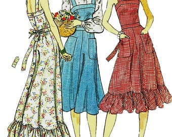 Vogue 9172 Vintage 1970s Uncut Sewing Pattern Misses' Blouse, Scarf Or Knee Length Or Maxi Flared Summer Dress