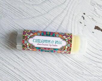 Cardamon Rose Lip Balm - Shea Butter Lip Balm // Natural Lip Balm // Natural Lip Butter // Bridal Shower Favor // Stocking Stuffer