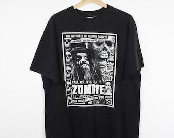 ROB ZOMBIE Living Dead Girl t shirt - vintage 90s - winterland - white zombie - horror