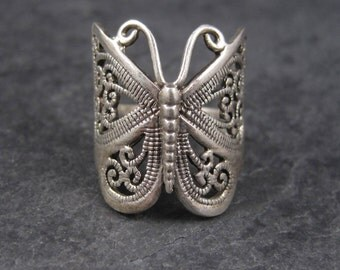 90s Vintage Sterling Butterfly Ring Size 8