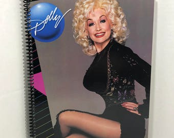 Dolly Parton Album Cover Notebook Handmade Spiral Journal