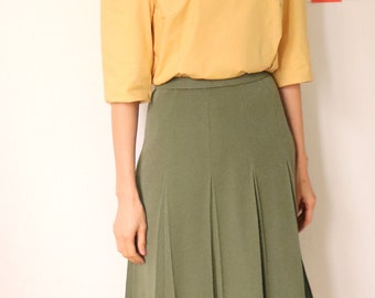Verdure Skirt- Japanese vintage pleated skirt