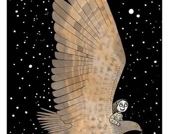Night Flight - A3 Print