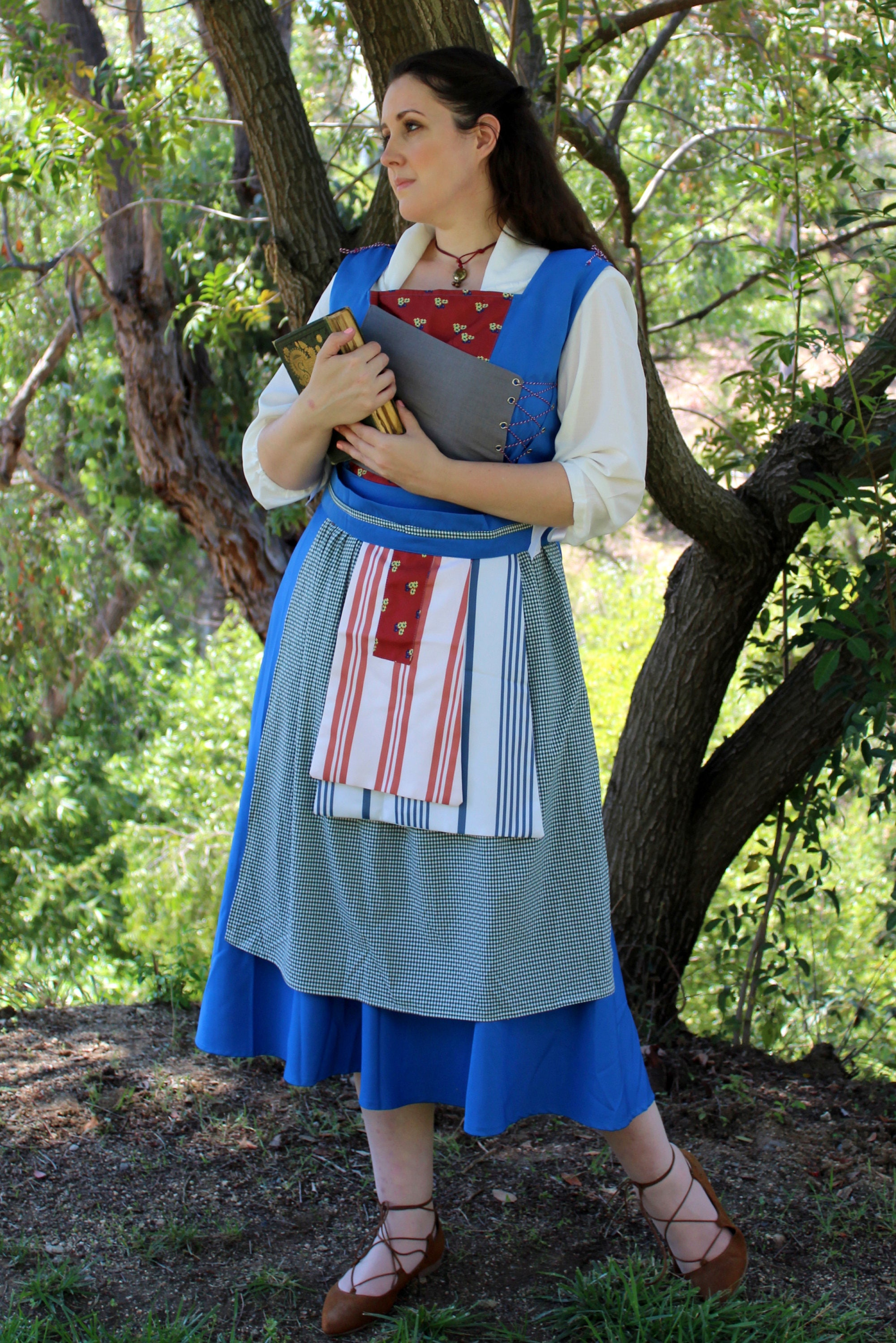 beauty and the beast belle blue dress costume guide