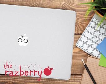 Wizard Macbook Decal Sticker Witchcraft School Wizardry School HP Scarf Scar Glasses Macbook Air Macbook Pro Sticker Film Inspired Decal