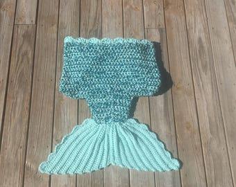 Sparkle Mermaid Tail Blanket Adult Mermaid Tail Blanket Green Mermaid Blanket Ready to Ship