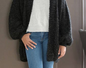 Oversized Chunky Knit Sweater Loose Knit Slouchy Sweater