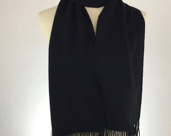 Handwoven 100% Cashmere Scarf Black