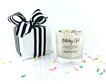 Birthday gift etsy birthday gift candle candle with sprinkles in gift box with ribbon custom candle negle Image collections