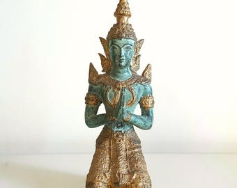 Vintage Buddha / temple guard figure from Thailand.