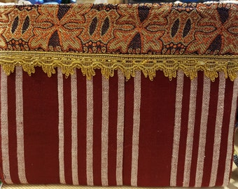 Ethiopian/Glamorous striped hand-held handbag African handbag