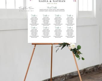 Digital Reception Seating Chart - Breezy Leaf (Style 0035)