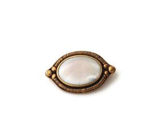 Vintage Bronze Shell Brooch