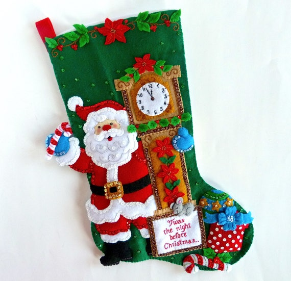Santa Claus Felt Stockings Bucilla Designs Page Two