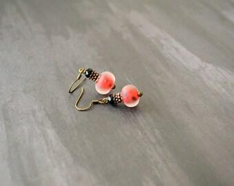 Vintage Earrings, Handmade Earrings, Earrings, Ladybug Earrings, Gift Under 20 Dollar, Boho Earrings, Chic Earring, Elegant Earring, Vintage