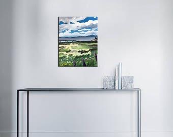 Acrylic paint - meadow