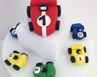 Race Car Cake Topper , Racecar Cake topper , Car Cake Topper