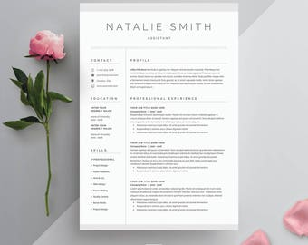 Resume Template 3 page | CV Template + Cover Letter for MS Word | Instant Digital Download | 'Natalie'
