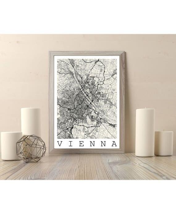 Map of vienna austria fits ikea frame map art print for Ikea ship to new zealand