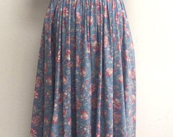 Vintage Laura Ashley floral summer dress size 10