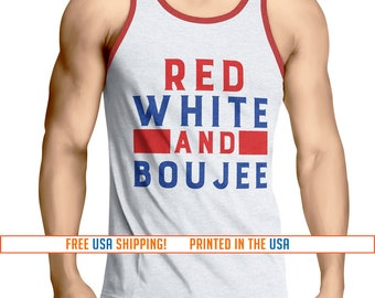 4th of July Shirt Red White and Boujee